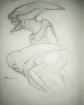 Deacon and Neomorph Sketch