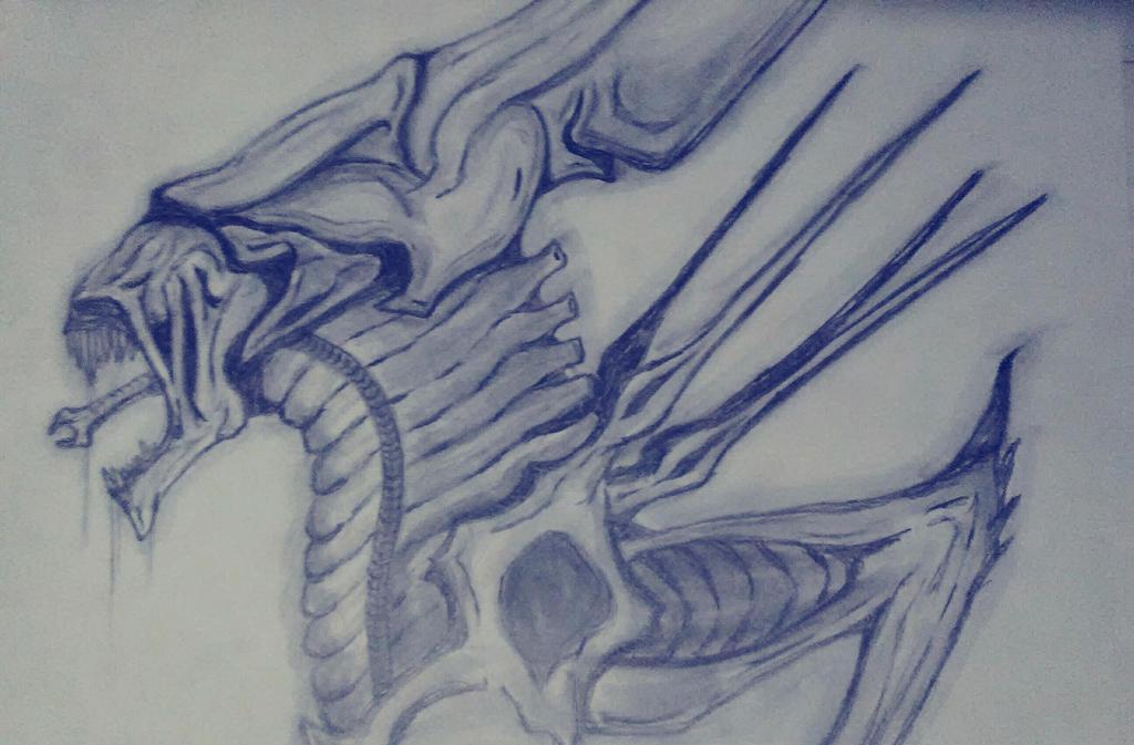 Xenomorph Queen by justinedavis426