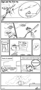 Cippi and the First Fly - stripes comic