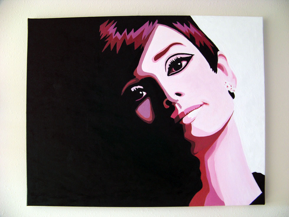 Audrey Hepburn Painting by Beckmyster