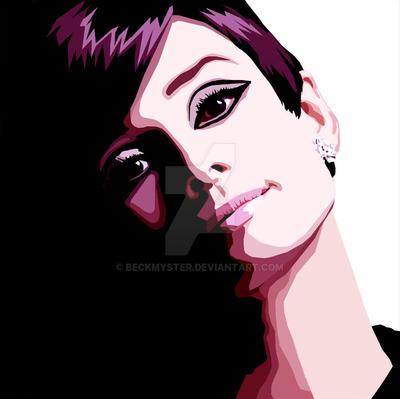 Audrey Hepburn by Beckmyster