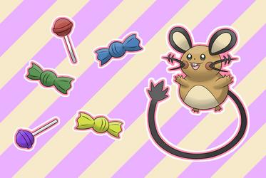 Dedenne's Candy Time! by MrKlonoa