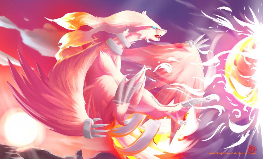 Pokémon !  Reshiram__fusion_flare_by_ninja_jamal-d3avafj