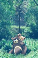 Wild Ursaring and Teddiursa by Ninja-Jamal
