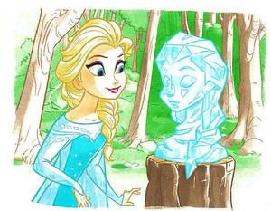 Elsa discovers Fredmunds work