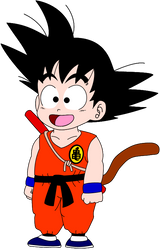 Kid Goku by Cuddlesnowy