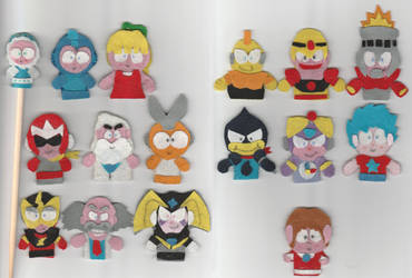 Megaman Finger Puppets (Now open for requests!) by Cuddlesnowy