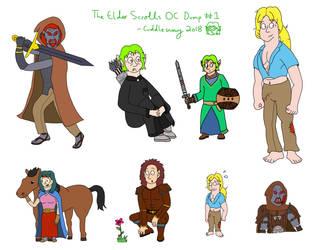 Elder Scrolls OC Doodle Dump by Cuddlesnowy