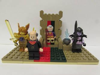 Custom LEGO Set - Sheogorath's Throne by Cuddlesnowy