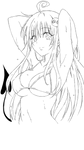Lala deviluke lineart transparent (only traced) by Noob-Italian-Mangaka