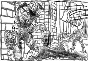 Halo Oddball Sketch by TheSpicyHole