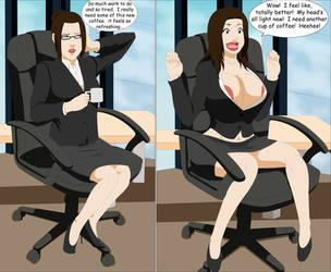 Commission: Office Bimbo by SuraKuraAnon