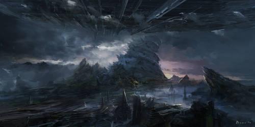 Sci-fi Landscape by samice