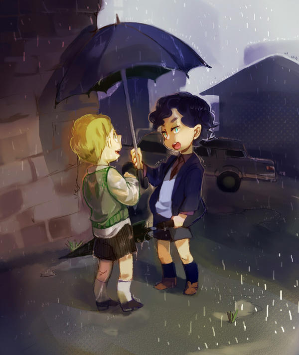 BBC sherlock KID    rain... by angla8011