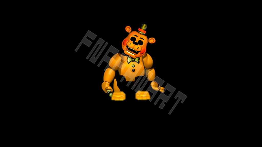Gold Freddy Toys : Slumped toy golden freddy by fnafanart on deviantart