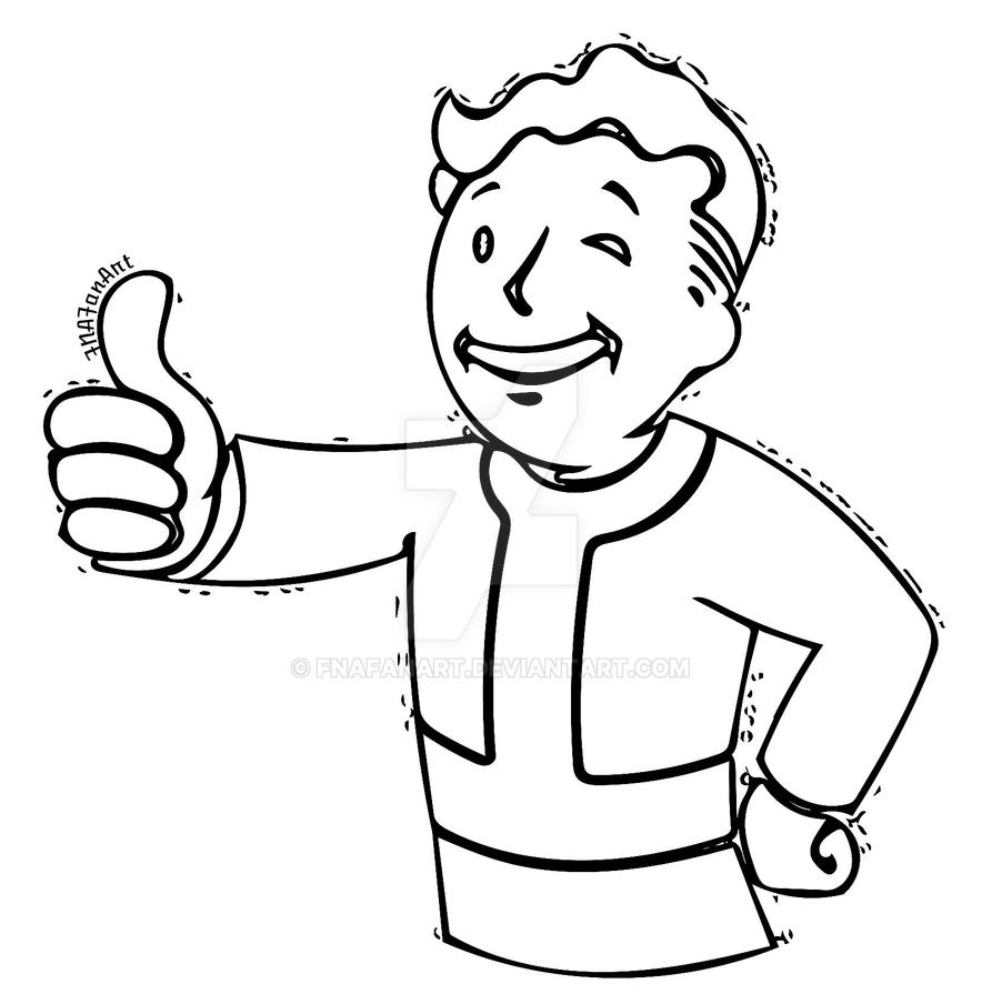 fallout vault boy coloring pages - photo#9