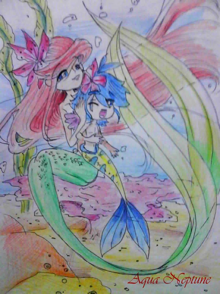ariel n merboy flounder by Charming-Manatee
