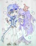 FullMoon Dragon and Mermaid Princess