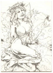 Poison Ivy Sketch Card by BREED72