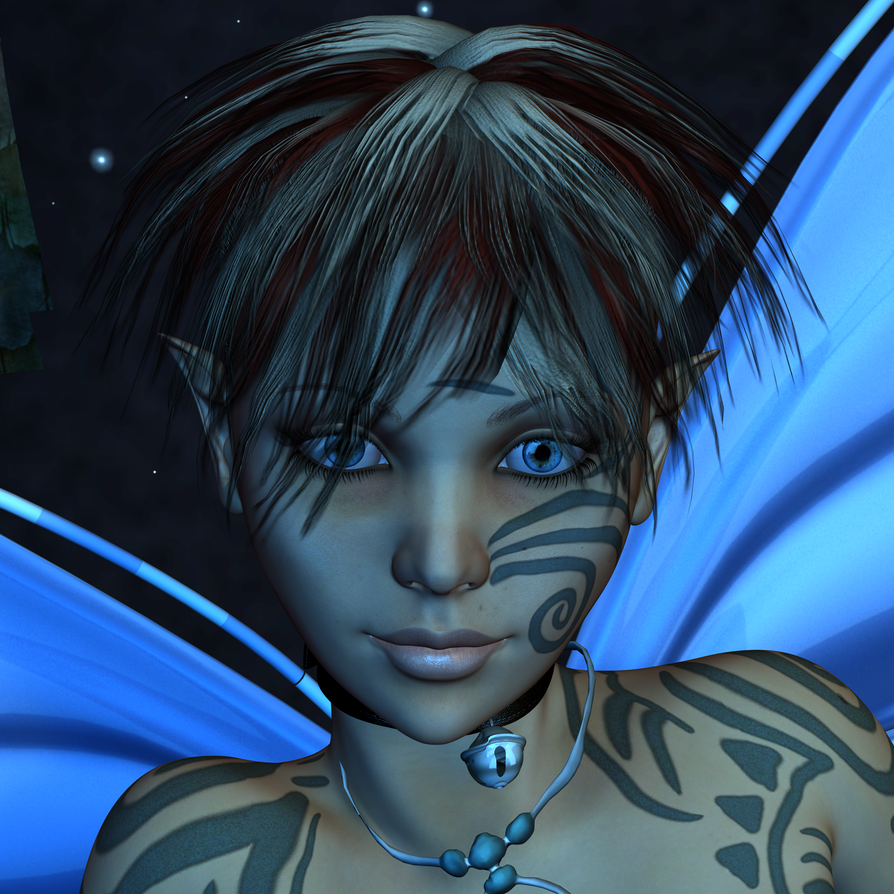 A pixie called Alana - Portrait by TERABBS