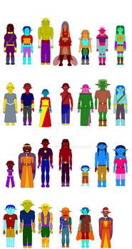 Characters Edits Flats