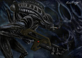 Alien's Pulse Rifle by BrianJMurphy