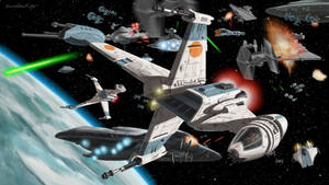 B-Wings At The Battle Of Endor