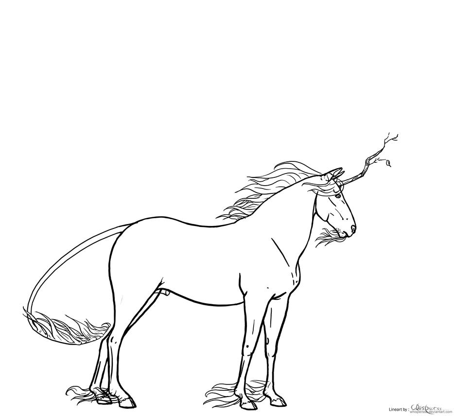 Line Art Forest : Forest unicorn line art by niyra on deviantart