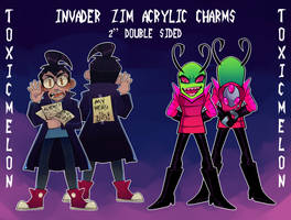 INVADER ZIM ACRYLIC CHARMS by ToxicMelon