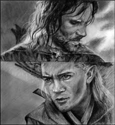 LOTR: Aragorn and Legolas by worthgold