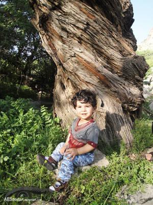 Arshia with magic tree