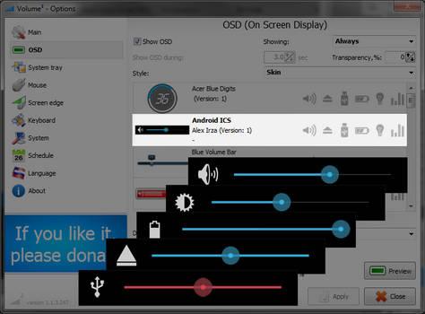 Volume2 OSD Skin Android ICS