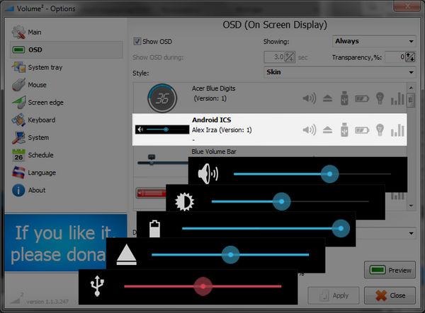 Volume2 OSD Skin Android ICS by irzyxa