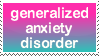 generalized anxiety disorder by hollyleafe