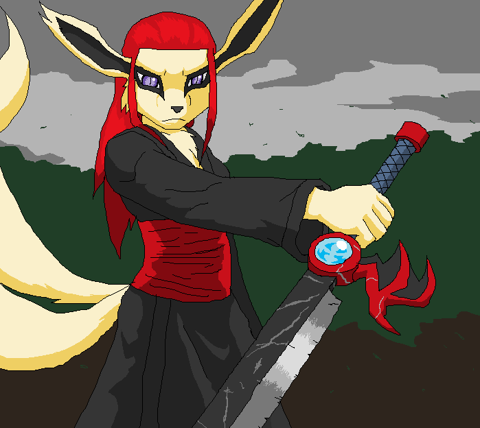 Lanza's blade by Metal-Kitty