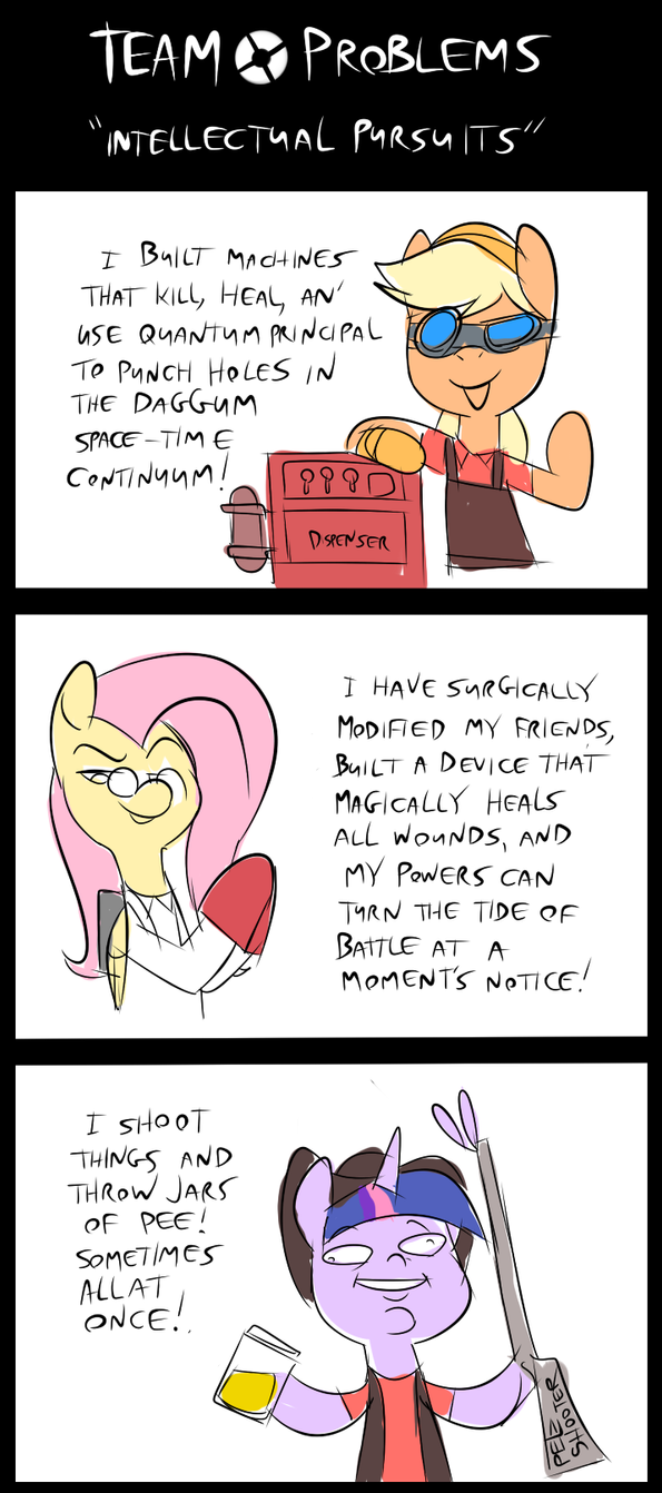Team Problems - Intellectual Pursuits by Metal-Kitty