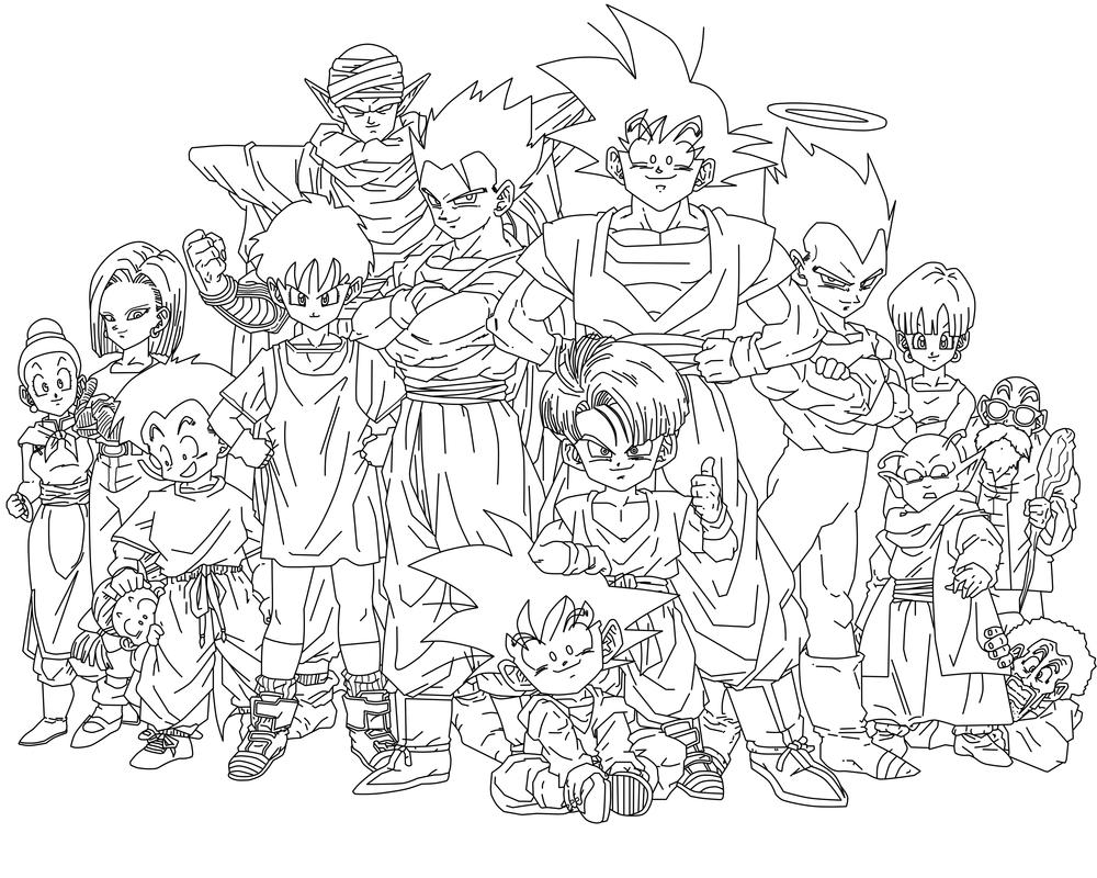 Line Art Group : Dbz group by suekumaru on deviantart