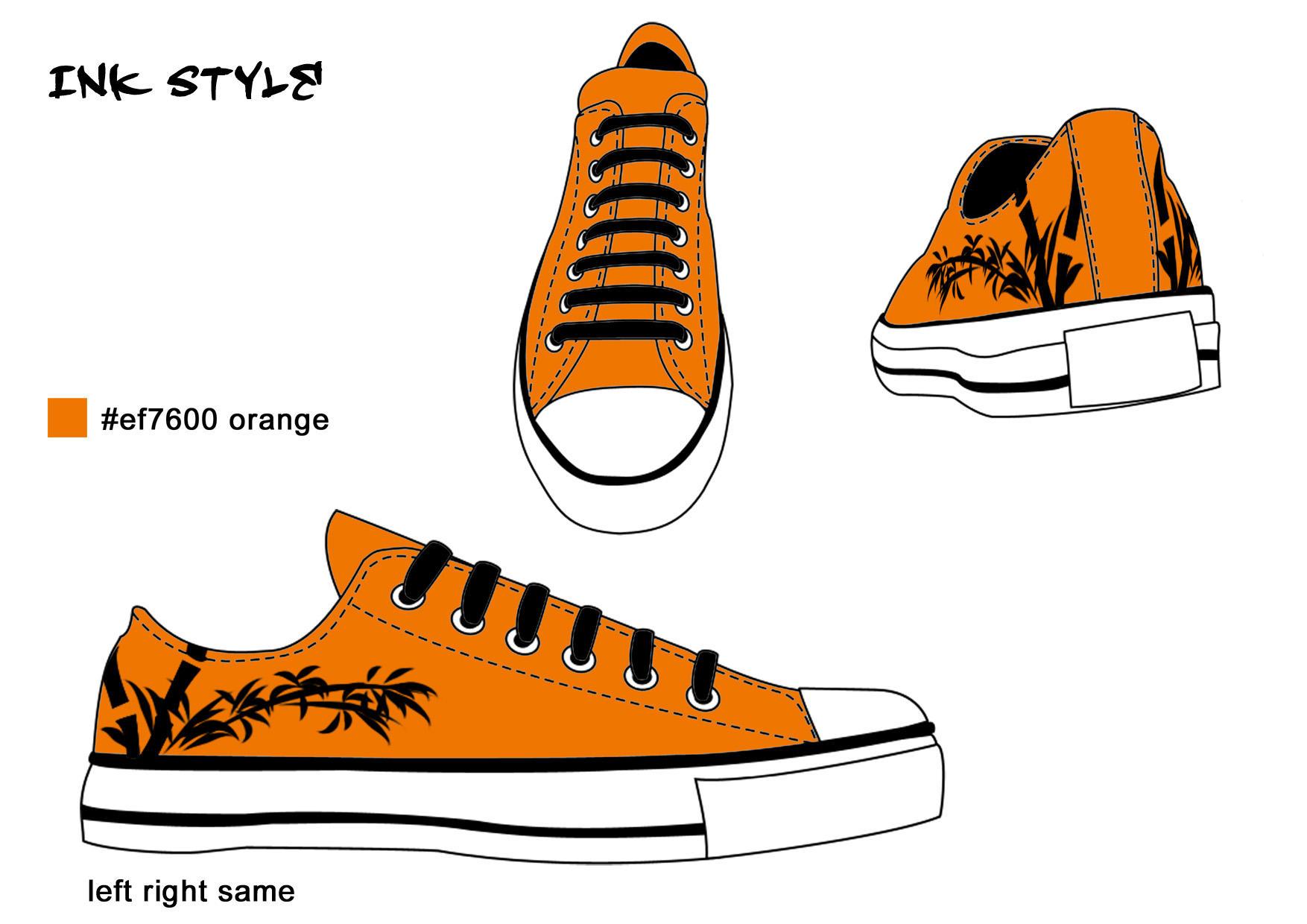 shoe design oriental ink by hooyoo on DeviantArt