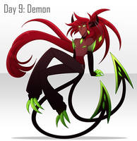[30 Day Challenge] Day 9: Demon by frogtax