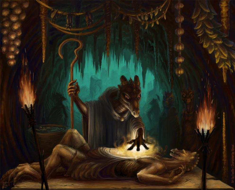 Kobold healer by RavenLoo