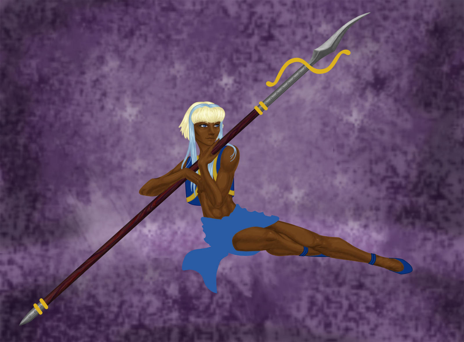 Kyrien with spear by MegamiJadeheart