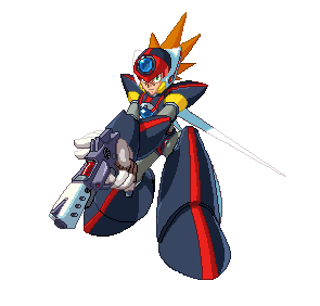 Megaman X Axl Pixel Art by blonemon
