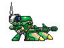 pixel art megaman x command mission Preon Gunner by blonemon