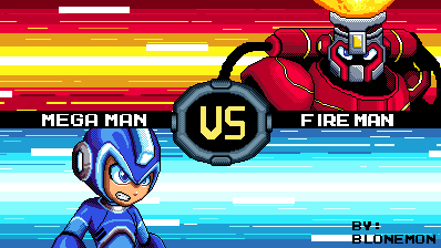 re sprite megaman fully charged by blonemon