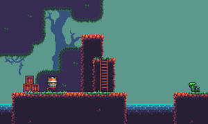 A platformer in the forest