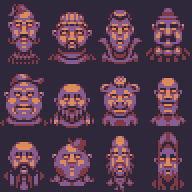 2 Bit Faces by buch415