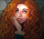 The red hair girl called Merida