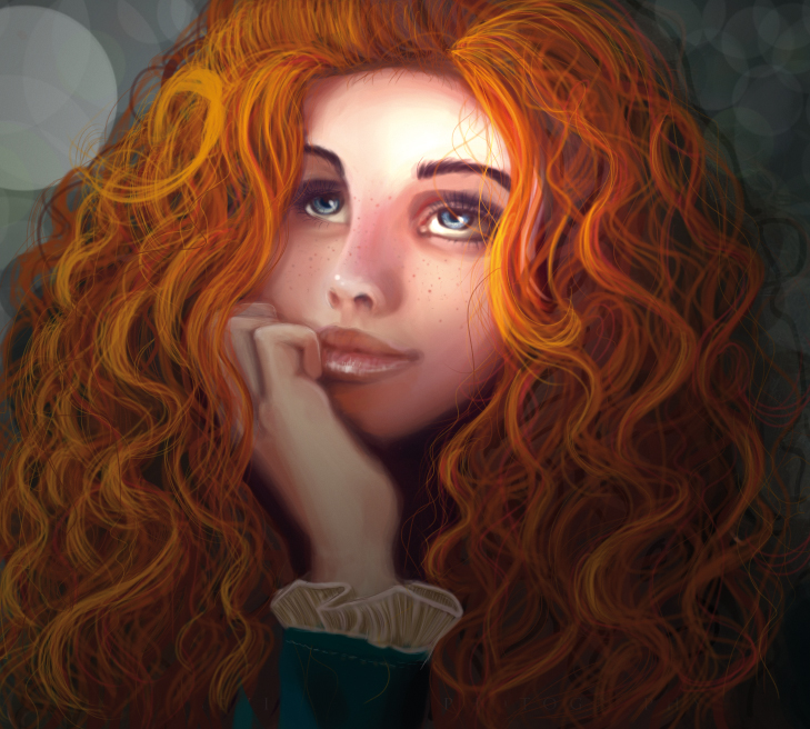 The red hair girl called Merida by mokacarbonara