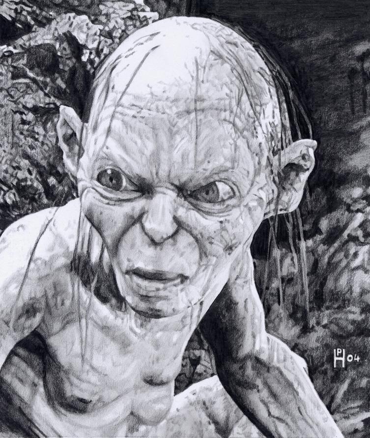 Señor de los anillos Gollum_by_DryJack