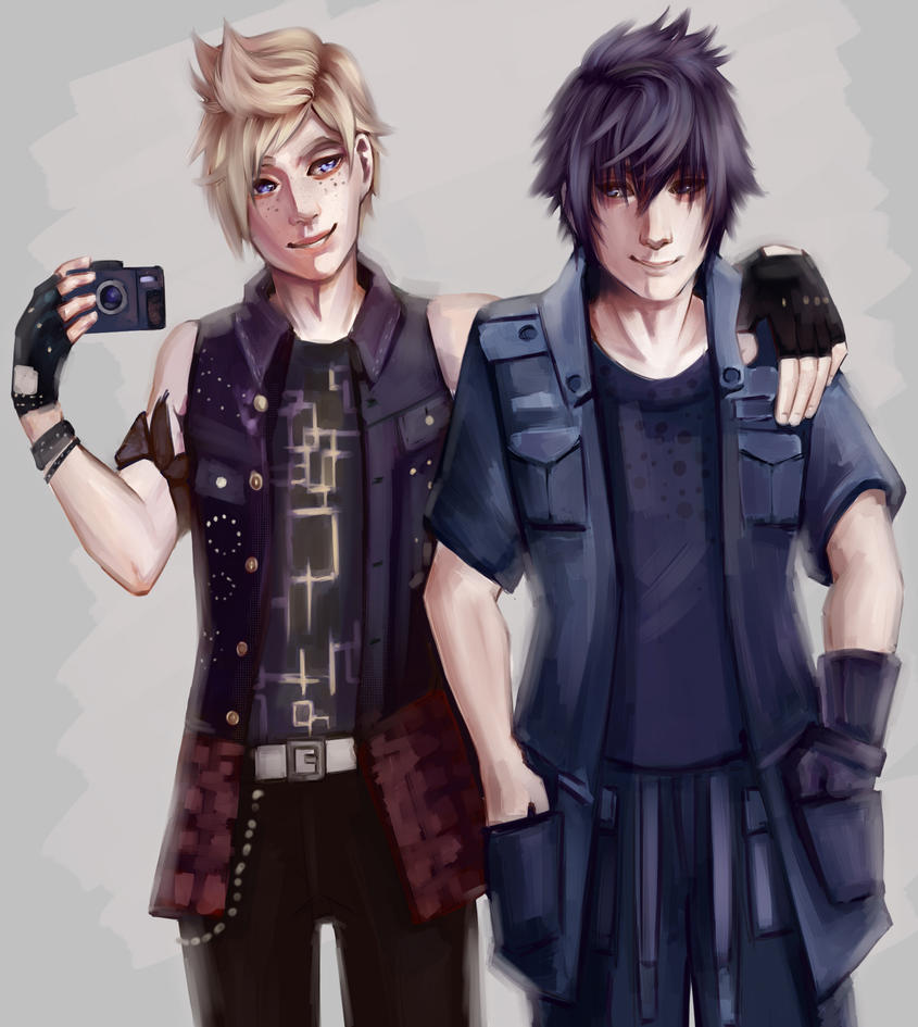Prompto and Noctis by Rainescence